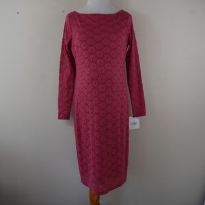 Size Small Pink Lace Overlay Maternity Dress NWT